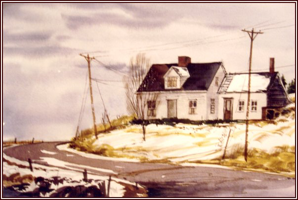 watercolour painting: Rogers home