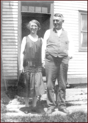 black-and-white snapshot of George and Flossie Rogers ca. 1940