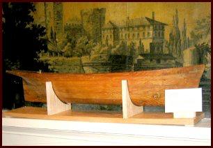 ship half-hull model