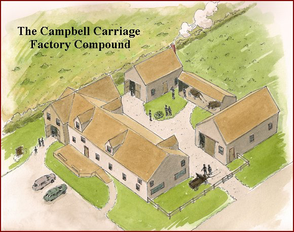 artist's rendering of The Campbell Carriage Factory Compound