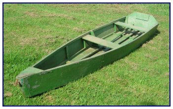 Graham Cole (1909–1975) worked for the Missaguash Marsh Fur Company and used this boat on the local marshes (Dimensions: 12′ 1 ½ × 31 ¾ × 10″). C. MacKinnon photo