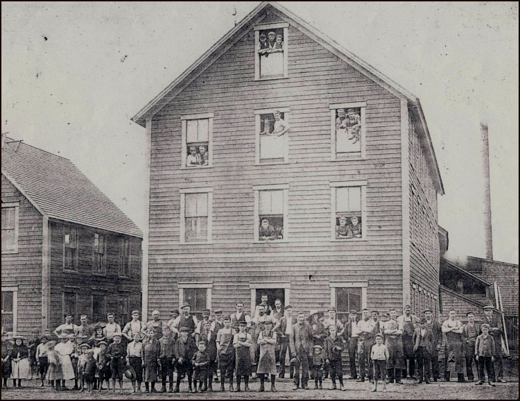 The J.R. Ayer Ltd. Boot and Shoe Company on the corner of Walker Road and Main Street, Sackville, in June, 1896