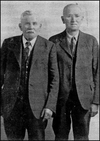 Burwash Robinson (left) and Mel Hicks (undated).