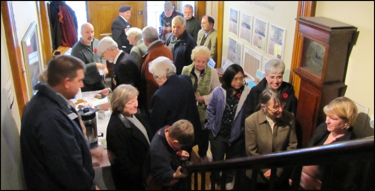 Visitors to the November 11, 2010 reception at Boultenhouse Heritage Centre.