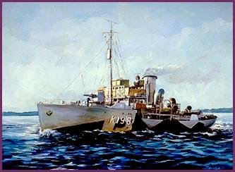 Painting of HMCS Wetaskiwin