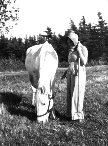 Pauline with horse Old Silver