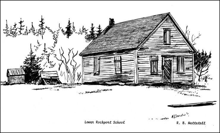 R.B. Mattatall sketch of Lower Rockport School