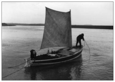 Fishing boat in Highland Village, Nova Scotia