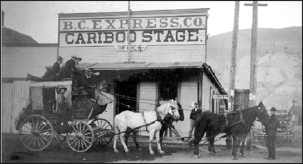 BX Express stage at Ashcroft (BC Archives photo A-60929)