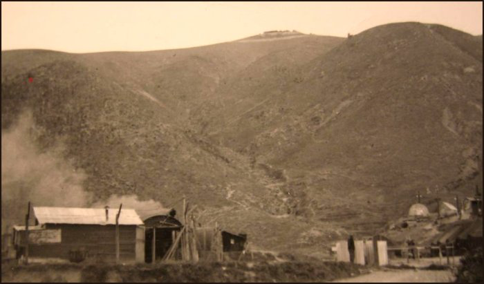 Korea — Kowang-San, Hill 355 (nicknamed Little Gibraltar by the Americans) where Private Stanley Ward (RCR) was killed on 23rd October 1952. (C. MacKinnon collection)