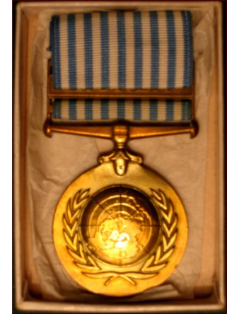 Stanley Arthur Ward's United Nations medal. (C. MacKinnon collection)