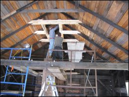 EnerGreen carpenters returned to add support for the chimney