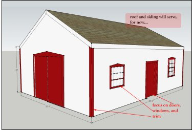 artist's rendering of proposed work on the blacksmith shop