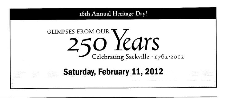 16th annual heritage day ad