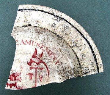 Fragment of an ABC or Alphabet dish