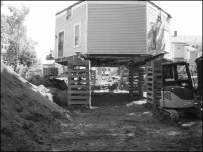 Excavation in preparation for new octagonal basement