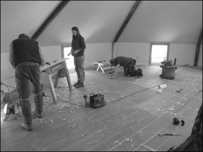 Preserving as much of the old flooring as was possible