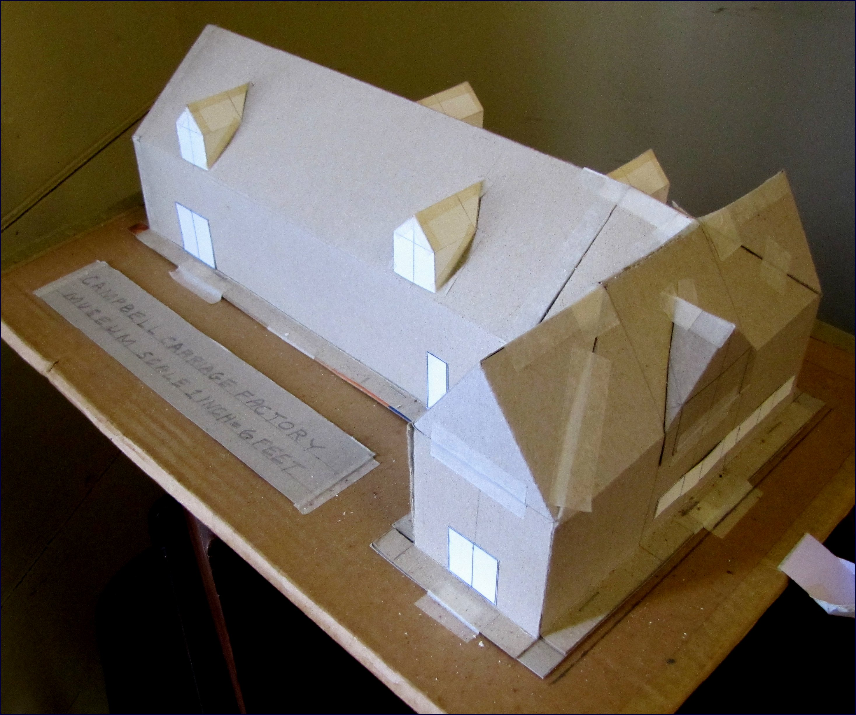 A scale model for the addition, made by Daniel