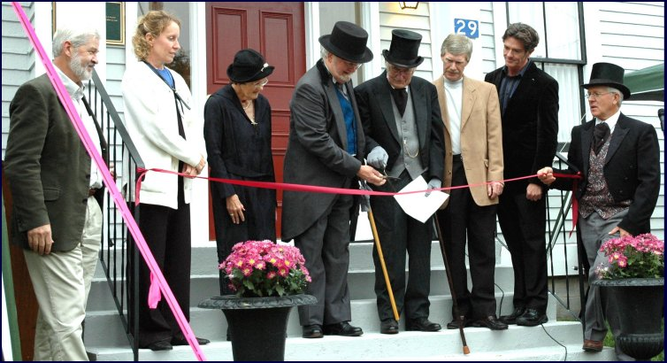 At the opening of the Boultenhouse Heritage Centre in September 2006, brothers Kenneth and Daniel Lund cut the ribbon
