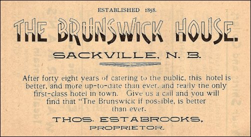 Brunswick House  advertisement (1906)