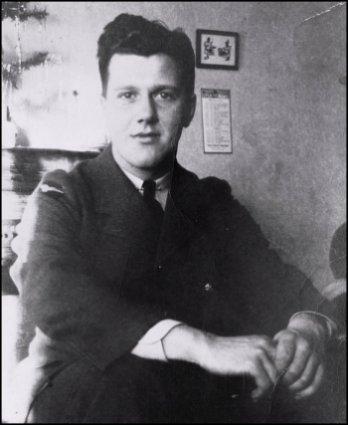 Pilot Officer J.A. Richard at enlistment