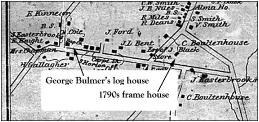 Portion of map produced by Walling in 1862
