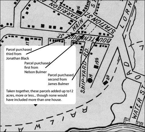 Portion of Stewart map of Sackville, 1899