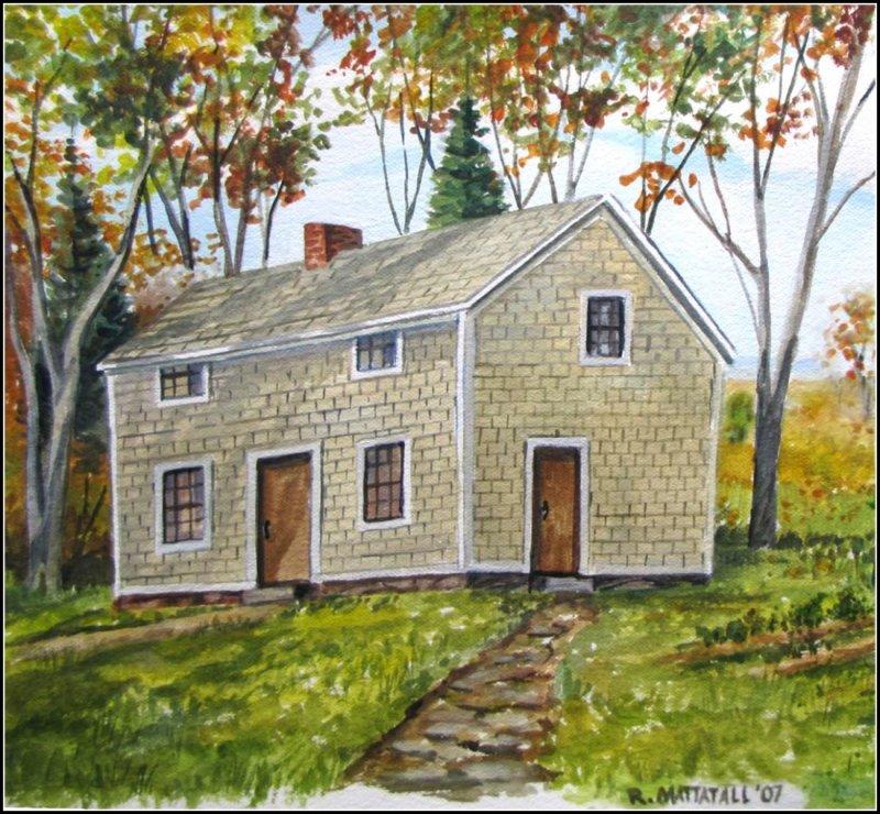 Watercolour of Bulmer House