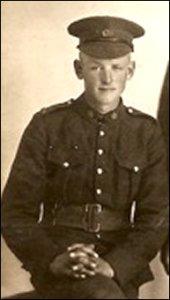 Carl Brown in uniform.