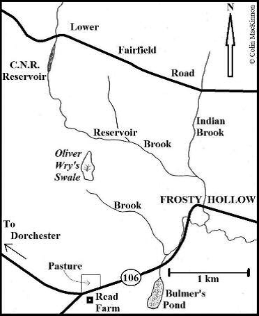 Map of Oliver Wry's Swale