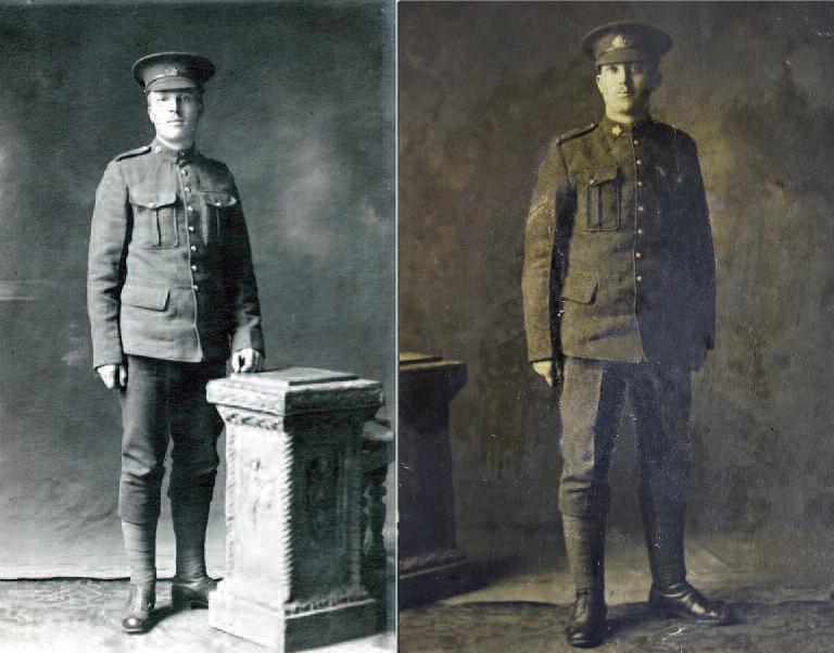 Photo of brothers Private Arlington Dixon Ward and Corporal Parlee Hector Ward