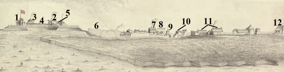 Portion of sketch of Fort Lawrence