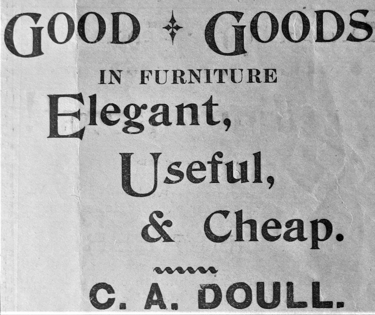 C.A. Doull advertisement 1902
