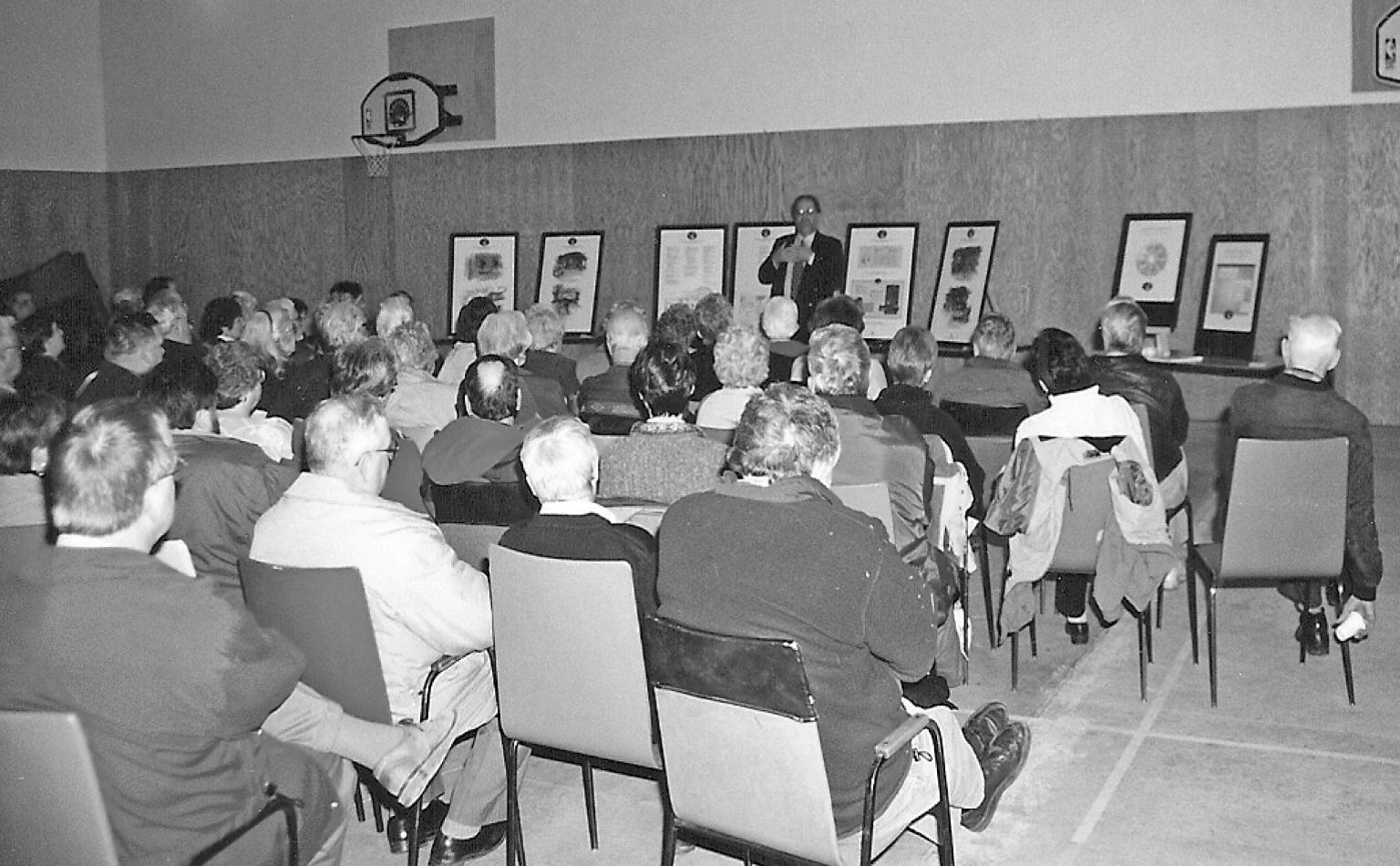 Photo of presentation by Cardinal Communications
