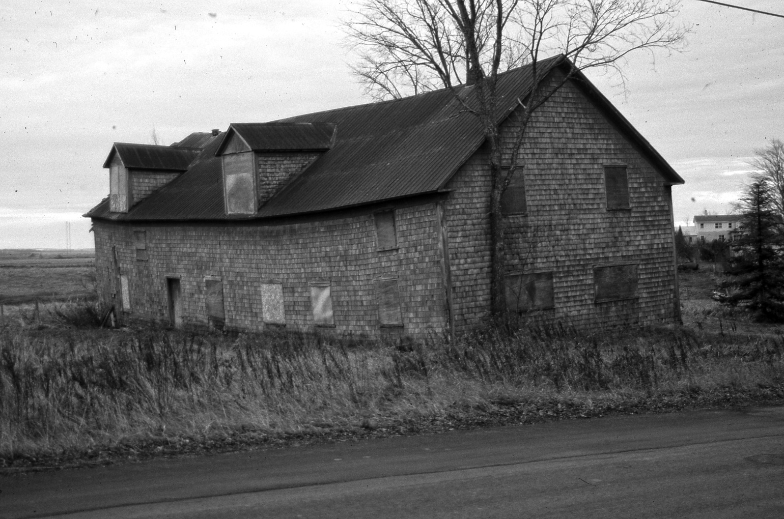 Photo of Campbell Carriage Factory prior to restoration