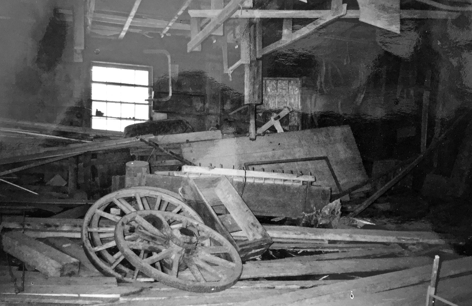 Photo of how things were first found in Campbell Carriage Factory
