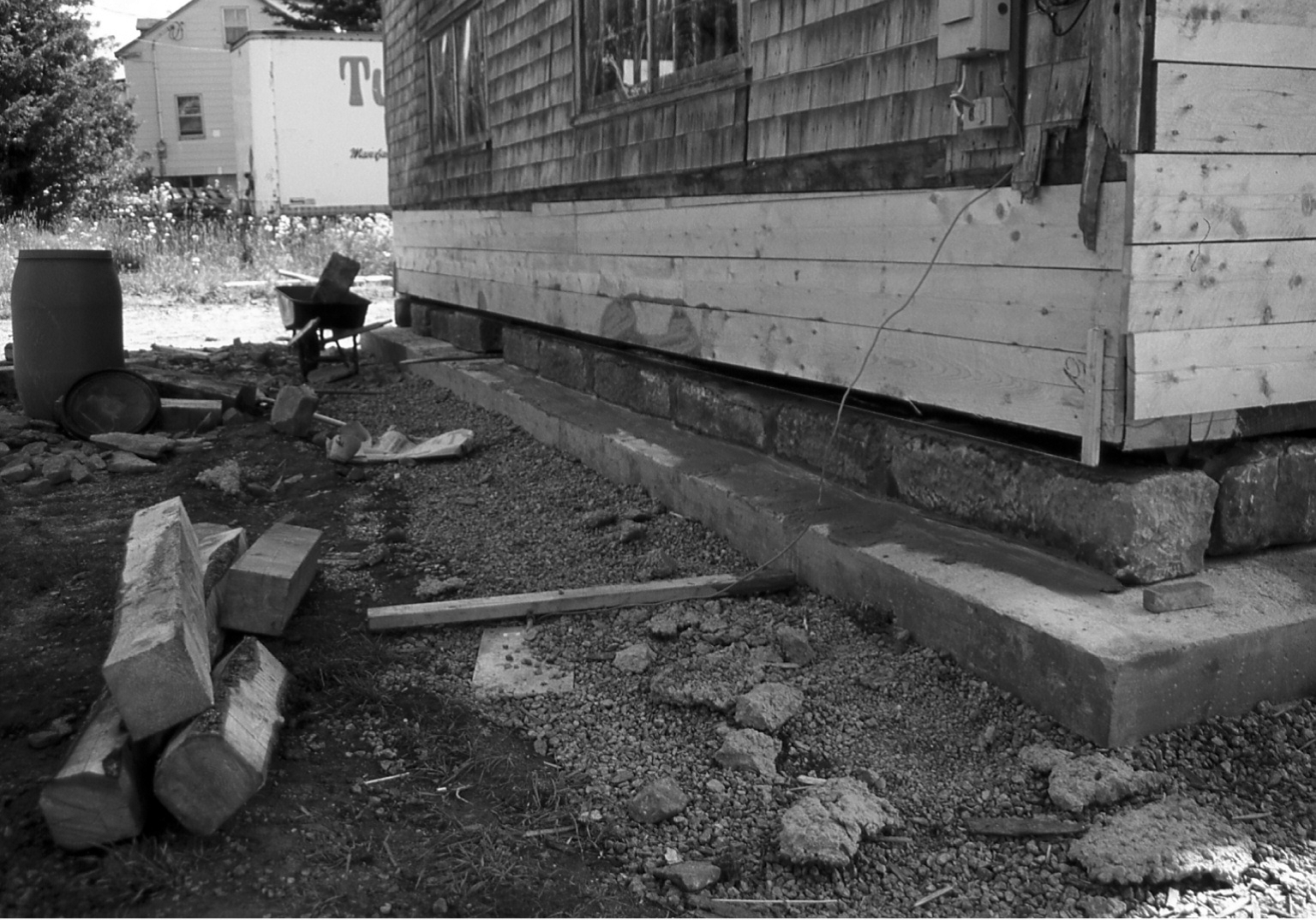Photo of foundation at Carriage Factory