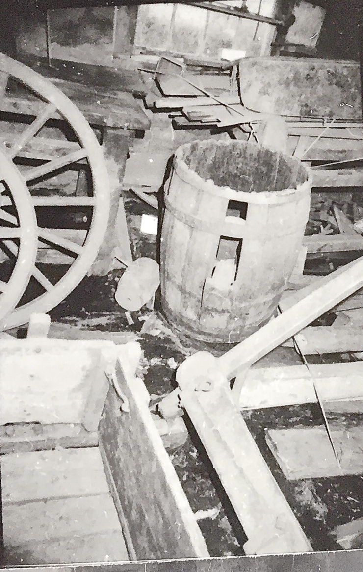 Jumble of items as first found at Campbell Carriage Factory