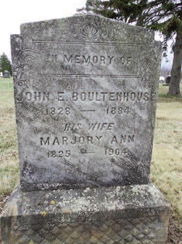 Photo of Boultenhouse tombstone