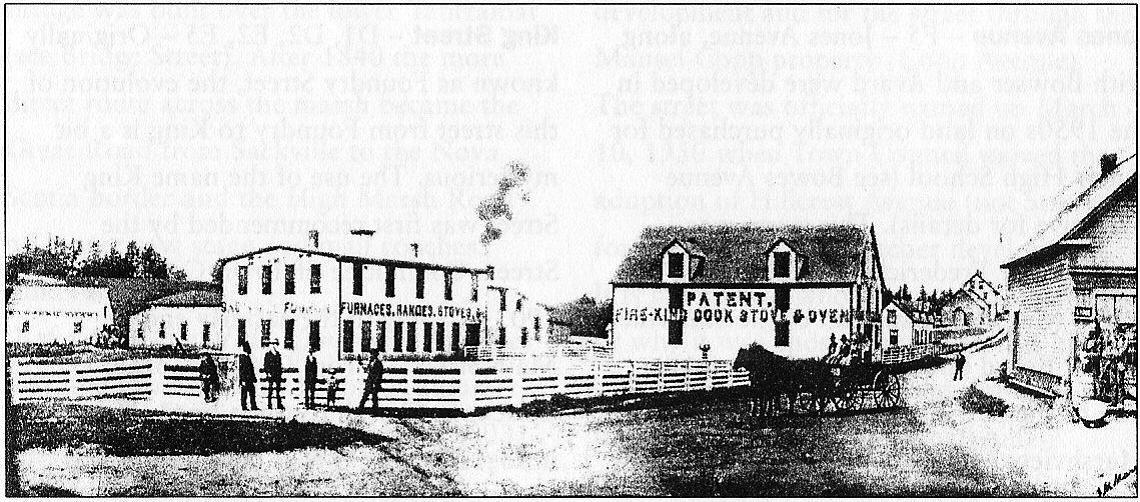 Photo of the old Fawcett plant, circa 1870