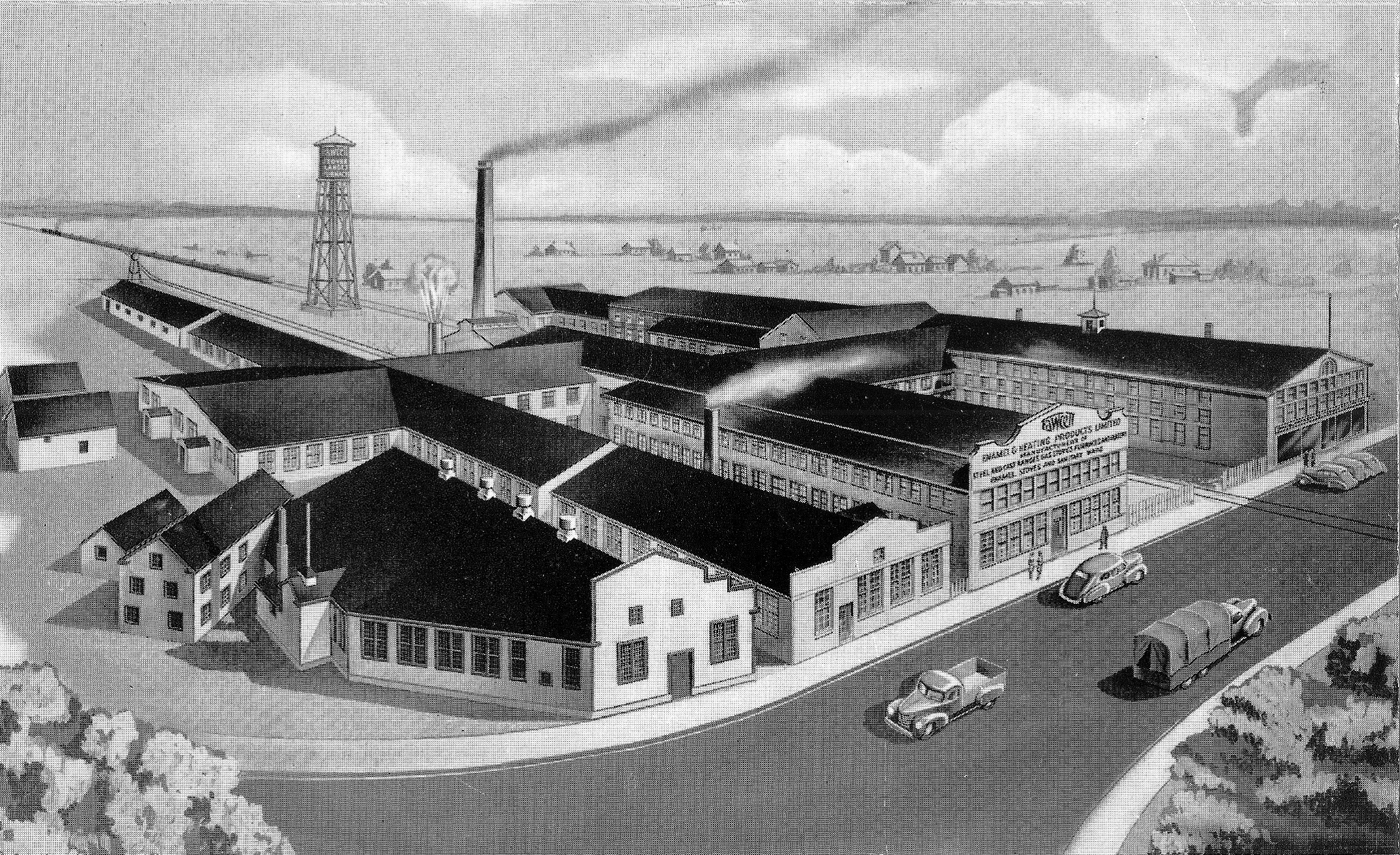 Sketch of Enamel and Heating Foundry, King Street, Sackville, NB