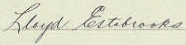Signature of Lloyd Estabrooks