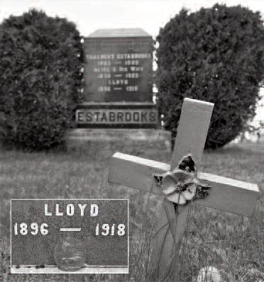 Grave of Private Lloyd Estabrooks, Upper Sackville, New Brunswick