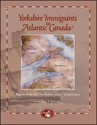 Yorkshire Immigrants to Atlantic Canada [cover]