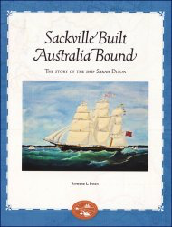 Sackville Built Australia Bound: The Story of the Ship Sarah Dixon [cover]