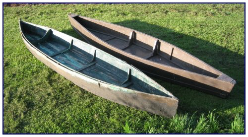 Marsh boats: Example on left built in 1922 for John Robinson and, on right, boat built (c.1950) by Edgar Jones. C. MacKinnon photo