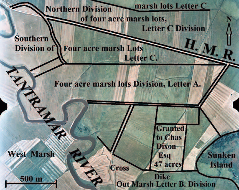 Grant divisions in Sackville Township 1791
