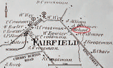 Map of FairField Road and King Street, Sackville, New Brunswick