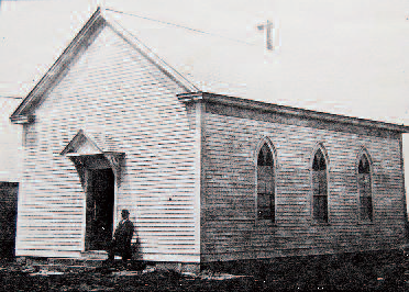 Photo of Fairfield Baptist Church circa 1950