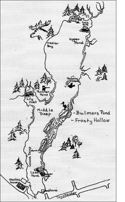 sketch of Bulmers Pond